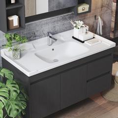 简易实木洗手盆家用卫生间小户型挂墙式洗漱台阳台洗脸面盆柜组合 60cm:单独挂墙主柜