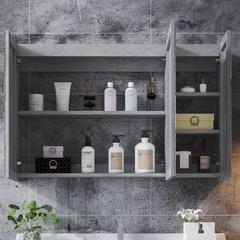 北欧实木浴室智能镜柜家用卫生间镜箱带灯厕所挂墙式镜子带置物架 60cm:单独镜箱