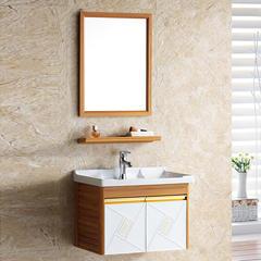 珀力卫浴 特价型材太空铝浴室柜 压花系列白色木纹可选 现货直销