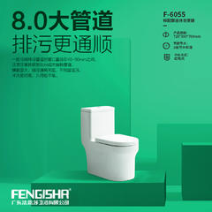 广东法思莎卫浴有限公司 专业生产研发8.0大管道马桶.防臭马桶  6055