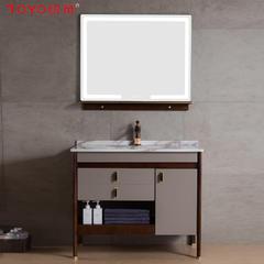 统用C1988-10多层实木浴室柜  红橡木材质  除雾照明  环保工艺 淡漠裸