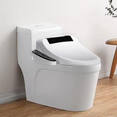 家用智能马桶一体式全自动智能坐便器即热式冲洗烘干电动遥控马桶 305mm 标配版 黑色【手柄款】