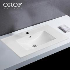 欧罗芬嵌入式台上盆浴室柜台盆陶瓷洗脸盆卫生间洗面盆一体洗手盆 【A款】60cm