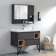 北欧浴室柜卫浴洗面盆洗脸洗手盆柜组合卫生间洗漱台洗手台落地式 60cm挂墙式