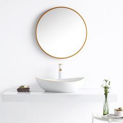 欧罗芬台上盆创意洗手盆金色金边个性艺术洗脸盆陶瓷面盆台盆 单盆+下水配件