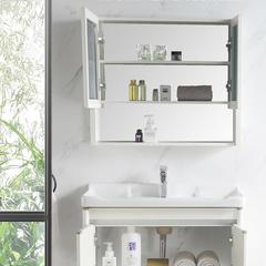 欧罗芬 洗手盆柜组合卫生间洗漱台小户型卫浴洗脸面盆池柜现代简约浴室柜 50双门配标配镜子