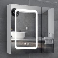 维罗诺智能卫浴镜柜防雾浴室带灯壁挂墙式洗手间梳妆卫生间单独小户型镜 60单镜门带杆【智能 加厚】