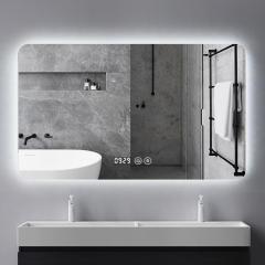 维罗诺智能镜防雾led网红浴室镜子带灯卫生间触控屏多功能壁挂方形定制 500*700mm横挂 单触控