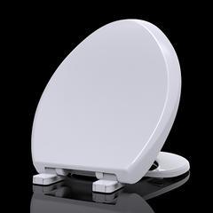 辉源盖板坐便器通用马桶盖老式马桶圈PP盖板静音缓降坐便厕所板189