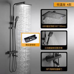 TEM/陶尔曼 北欧式浴室恒温淋雨淋浴花洒套装家用全铜 黑色花洒 恒温版A款