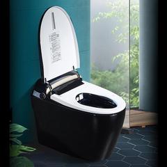 智能马桶一体式全自动家用坐便器无水箱遥控冲洗烘干墙排式 X20黑陶瓷 305mm