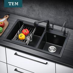 德国陶尔曼石英石水槽 套餐厨房洗菜盆花岗岩大双槽洗碗池水池 7240A 特惠套餐2