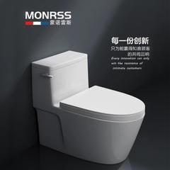 蒙诺雷斯  1801  虹吸式连体坐便器  超薄边框   加粗全管道 305mm 715x405x6