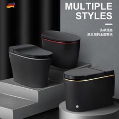 唯宝 德国唯皇彩色个性小户型家用卫生间无水箱电动脉冲坐便器黑色马桶 305mm V008-CH纯黑(
