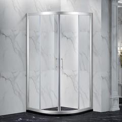 KNC6115 康纳沐浴房 铝合金两固两移推拉门 扇形沐浴房,定制浴屏