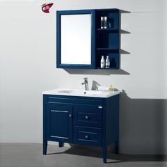 康纳 现代中式 KN8833-90 简约地中海浴室柜
