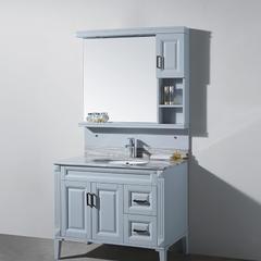现代美式 KN8850-100 简约地中海浴室柜 可定制
