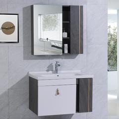名士卫浴 浴室柜现代简约卫浴柜生态木洗漱台洗手洗脸盆柜组合8015系列 双门60cm